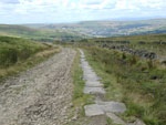 Top of Leach Rossendale, with Rawtenstall way down in the distance. Its the highest point of the Mary Towneley Loop.