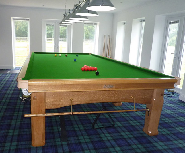 Full Size Riley Oak Imperial Snooker Table Refurbished In Our - Full size snooker table for sale