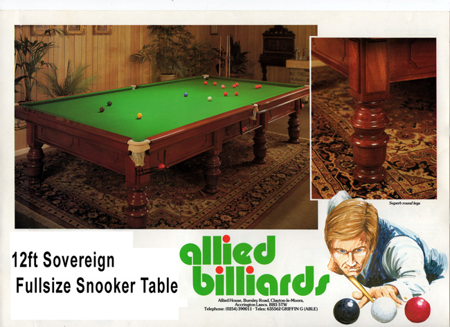 ce698cba28632 12 ft Allied Billiards Sovereign Snooker Table