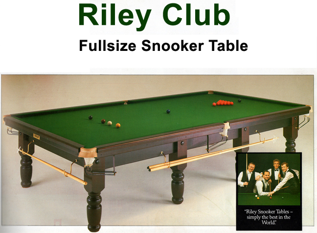 12ft full size riley club snooker table refurbished for 12ft snooker table for sale uk