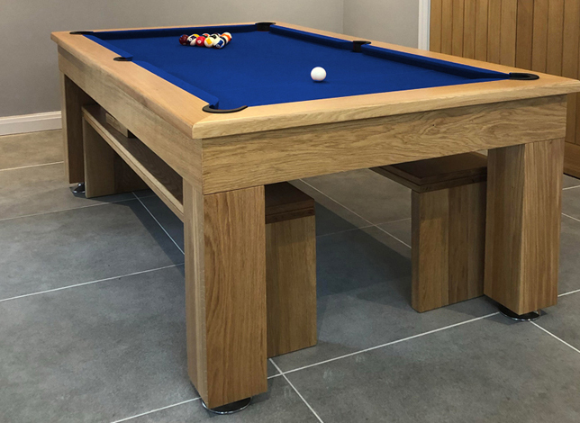New 6ft 7ft 8ft Slate Bed Solid Oak Artisan Pool Dining Table For Sale By Idonohoe Snooker Accrington